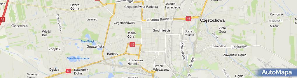 Zdjęcie satelitarne Ośrodek Szkolenia Kierowców Prekursor Tomasz Szczepanik