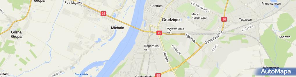 Zdjęcie satelitarne P.H.U.Celcia Celina Garbacz