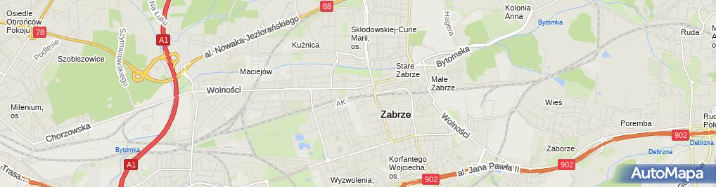 Zdjęcie satelitarne P.H.U.Logo Stanisław Mazanek, Logo II Stanisław Mazanek, Logo Recycling Stanisław Mazanek
