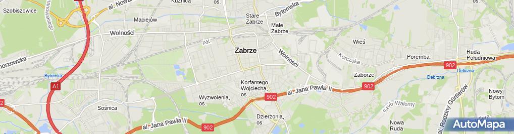 Zdjęcie satelitarne P H U Mit Marek Biliński Tomasz Bociański