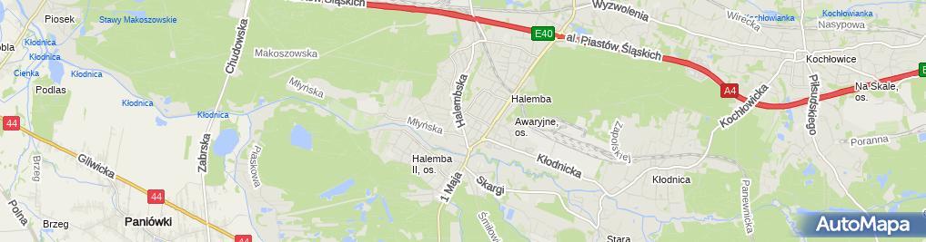 Zdjęcie satelitarne P.P.H.U Arko Arkadiusz Szczygieł