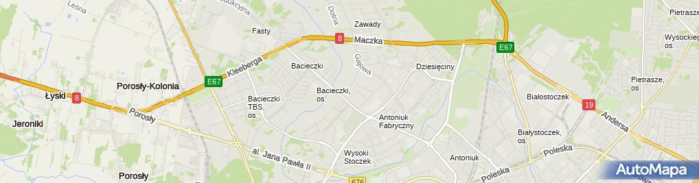 Zdjęcie satelitarne P.P.H.U Sławomir Siemienkowicz