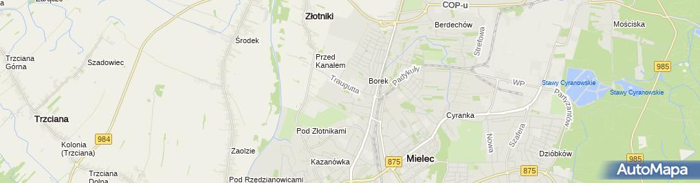 Zdjęcie satelitarne P P U H Auto Regen Saj Jacek