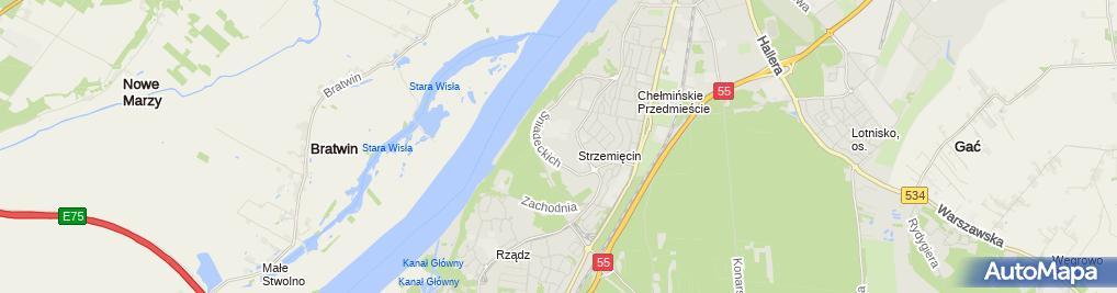 Zdjęcie satelitarne Pa Grudziądz
