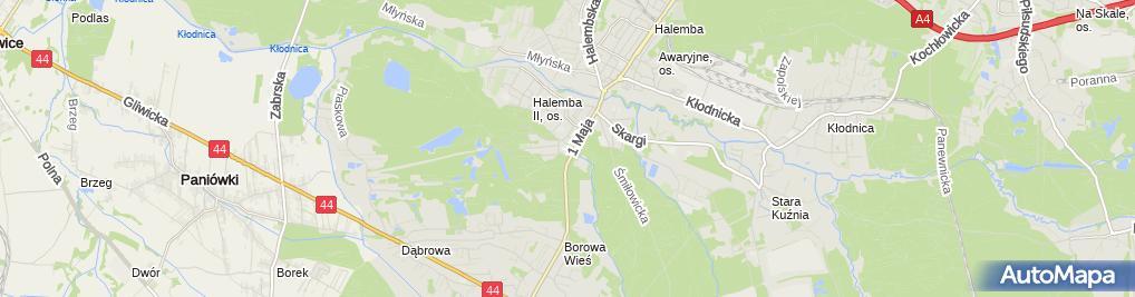 Zdjęcie satelitarne Palus Bogdan Palus Stanisława Dystrybucja Sieciowa Hand Detal i Obwoźny