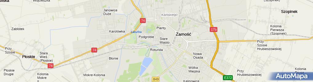 Zdjęcie satelitarne Państwowa Szkoła Muzyczna i i II Stopnia im K Szymanowskiego w Z