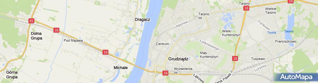 Zdjęcie satelitarne Pas Geodeta Paweł Pastewski