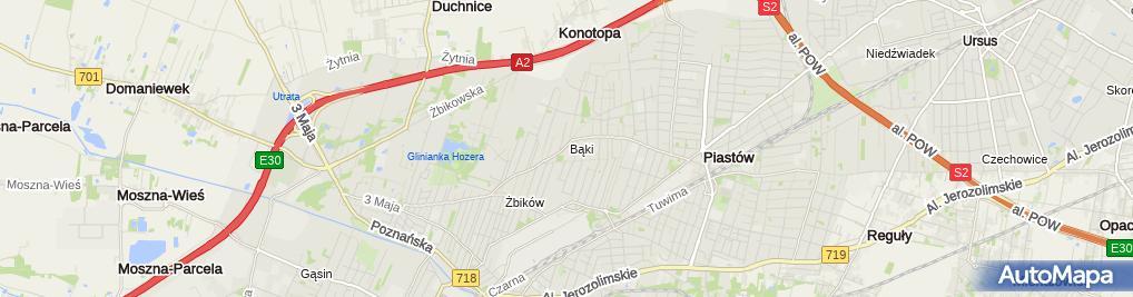 Zdjęcie satelitarne Paweł Bladowski Handel Hurtowy-Transport All-Trans
