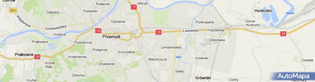 Zdjęcie satelitarne Paweł Kozioł Przedsiębiorstwo Handlowo-Usługowe Pako
