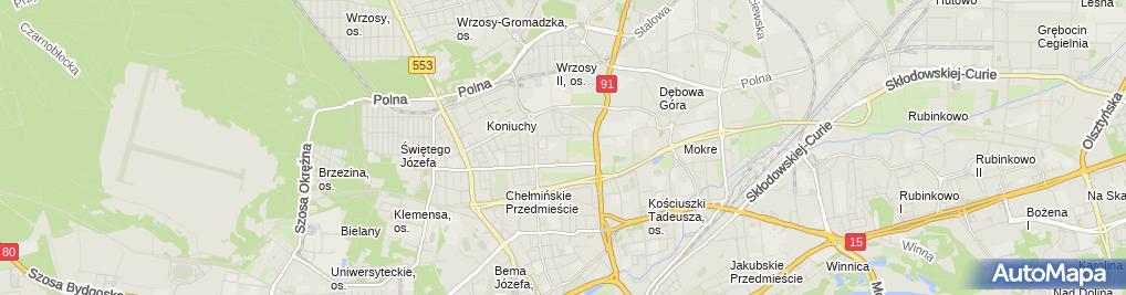 Zdjęcie satelitarne Pawłowska Małgorzata Błysk Firma Usługowa