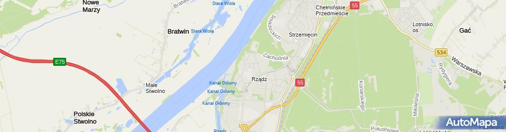 Zdjęcie satelitarne Pbi Projekt Marek Smoczyński