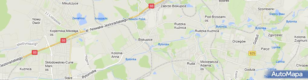 Zdjęcie satelitarne PHU Buglisz