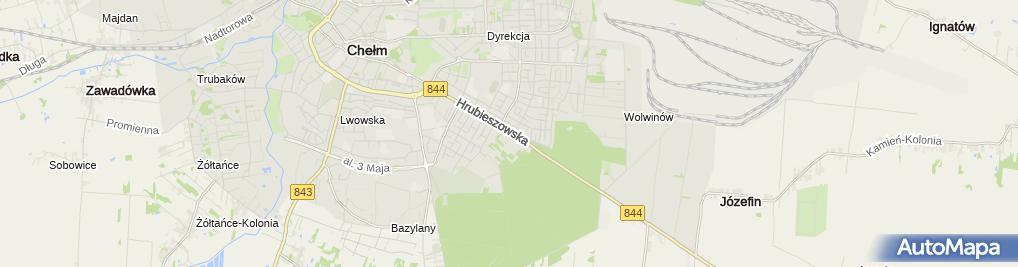 Zdjęcie satelitarne PHU Prowadzenie Ksiąg Podatkowych Wiśniowska Krystyna Wiśniowska Barbara