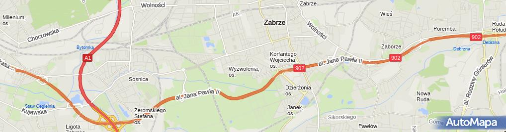 Zdjęcie satelitarne PHU Transport Frydych Małgorzata