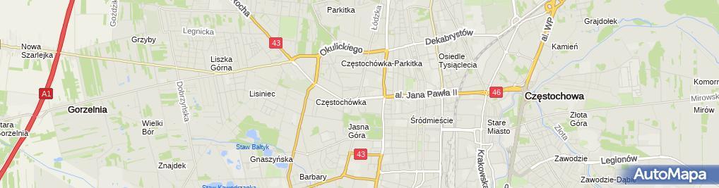 Zdjęcie satelitarne PHU Zeto Jarosław Pożarlik
