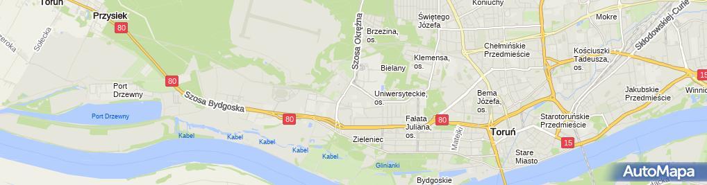 Zdjęcie satelitarne Piasecki Jacek Celmech Biuro Konstrukcyjne, Obróbka Metali Toczenie, Frezowanie Zakład Mechaniczny