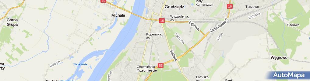 Zdjęcie satelitarne Piekarnia - Ciastkarnia Bogdan Jarząb