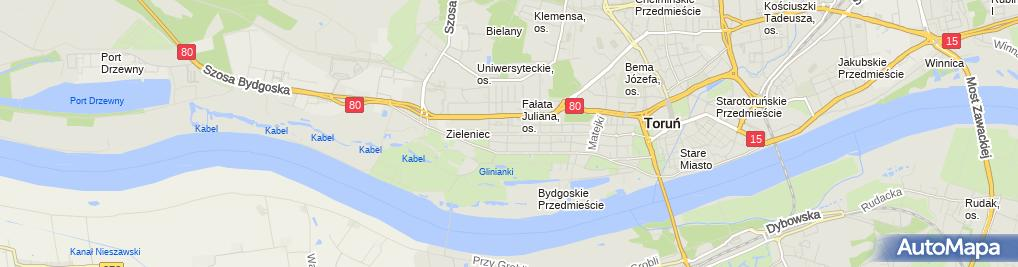 Zdjęcie satelitarne Piekarnia-Cukiernia Linek Zbigniew