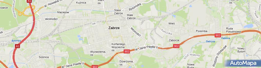 Zdjęcie satelitarne Piotr Salicki - Działalność Gospodarcza
