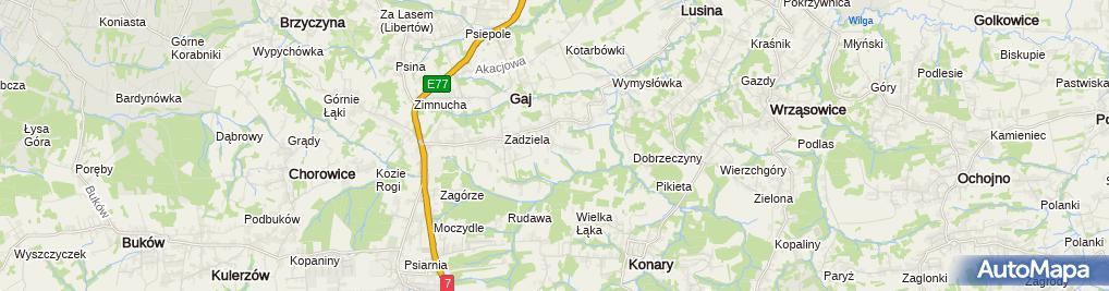 Zdjęcie satelitarne Piotr Sawiec - Działalność Gospodarcza