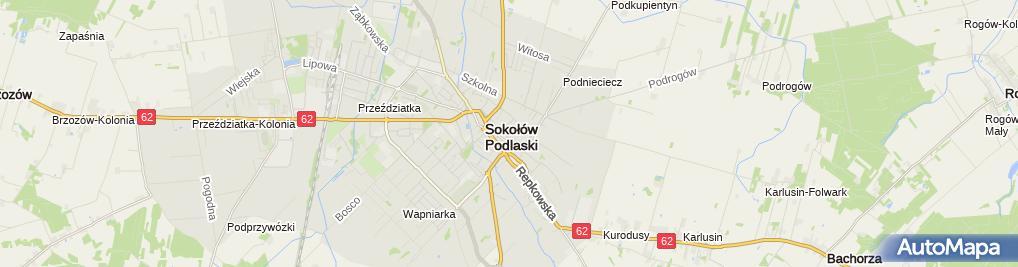 Zdjęcie satelitarne Piotr Zadrożny Przedsiębiorstwo Usługowo Handlowe Moto Serwis Piotr Zadrożny Zdzisław Zadrożny