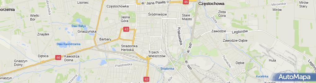 Zdjęcie satelitarne PKP PLK S.A.Zakład Linii Kolejowych w Częstochowie