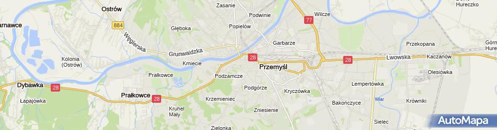 Zdjęcie satelitarne Placówka Kształcenia Policealnego i Kursowego , Miteinander'''' Beata Zawada i Zbigniew Zawada