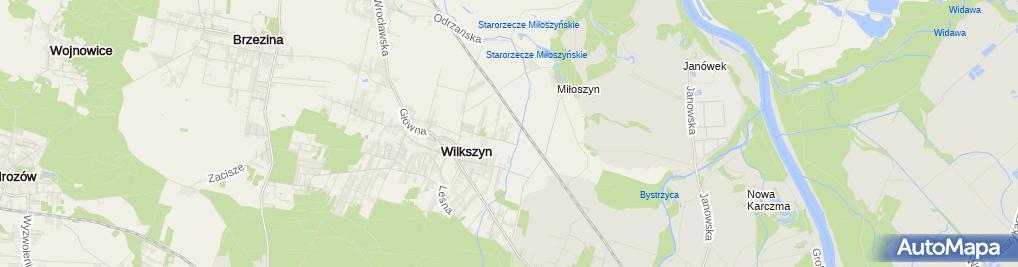 Zdjęcie satelitarne Płaczek B., Wrocław