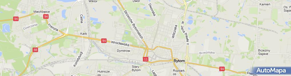 Zdjęcie satelitarne Plaza Firma Prywatna Ireneusz Plaza Bytom Alexandrowicza 9 9