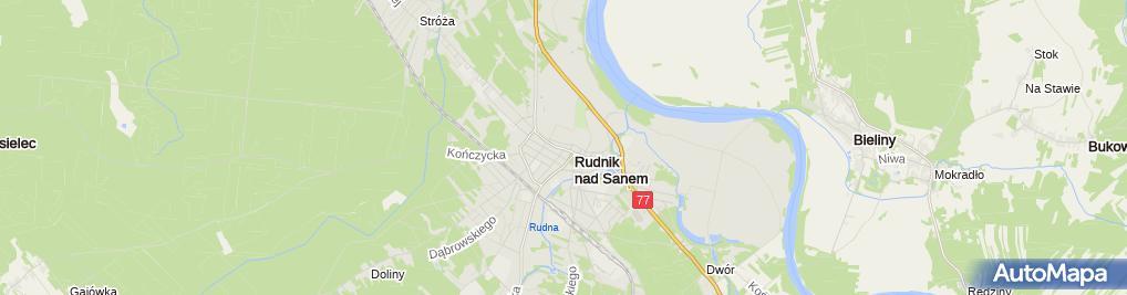 Zdjęcie satelitarne pod Michałkiem Niski Madej
