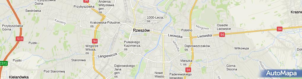 Zdjęcie satelitarne Podkarpackie Biuro Planowania Przestrzennego w Rzeszowie