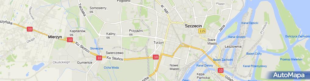 Zdjęcie satelitarne Pogotowie Krawieckie i Pasmanteria