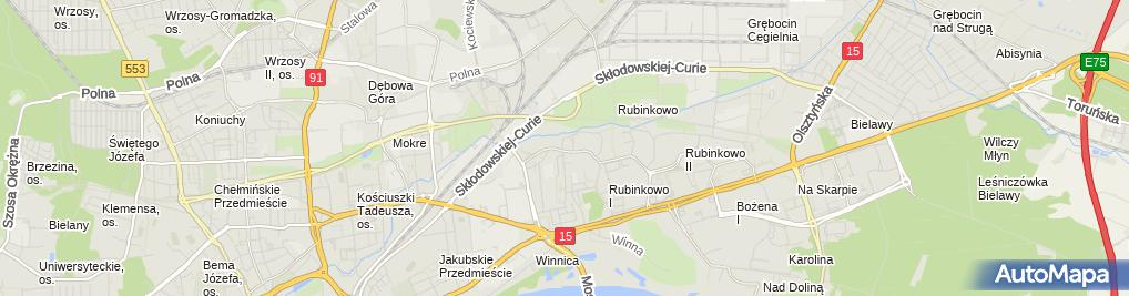 Zdjęcie satelitarne Polak Wanda Unitor Przedsiębiorstwo Prywatne