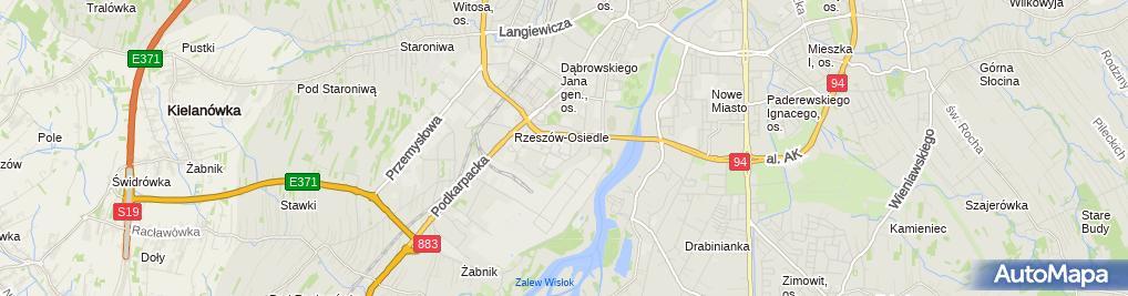 Zdjęcie satelitarne Politechnika Rzeszowska im Ignacego Łukasiewicza