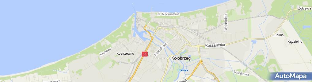 Zdjęcie satelitarne Połowy Morskie Koł-46 Dąbrowski Marek