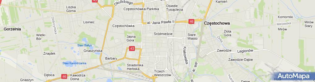 Zdjęcie satelitarne Polskie Stowarzyszenie Diabetyków Oddział w Częstochowie