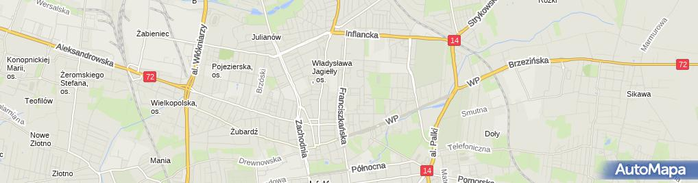 Zdjęcie satelitarne Polskie Stowarzyszenie Młodych