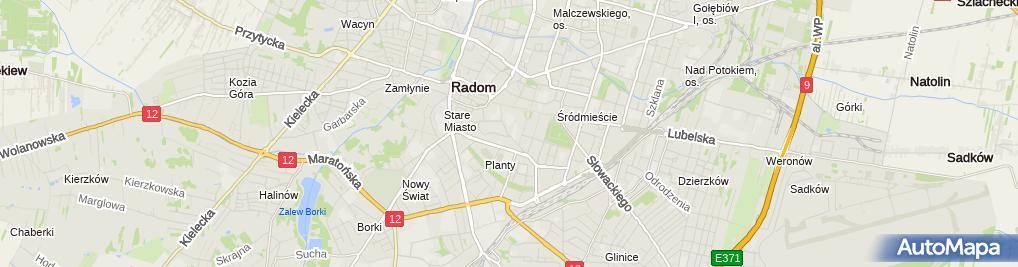 Zdjęcie satelitarne Polskie Towarzystwo Turystyczno Krajoznawcze Oddział Miejski im KS J Wiśniewskiego w Radomiu