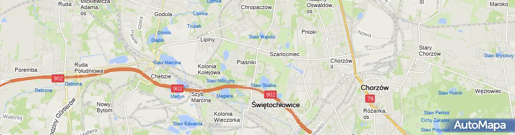 Zdjęcie satelitarne Polskie Towarzystwo Turystyczno Krajoznawcze Oddział Świętochłowice