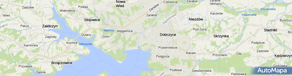 Zdjęcie satelitarne Polskie Towarzystwo Turystyczno Krajoznawcze Oddział w Dobczycach