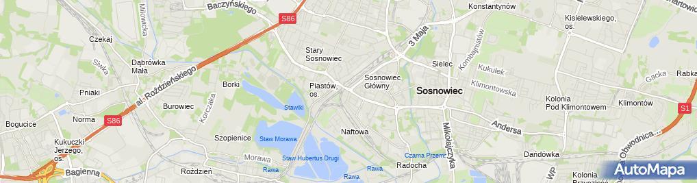 Zdjęcie satelitarne Polskie Towarzystwo Turystyczno Krajoznawcze Oddział w Sosnowcu