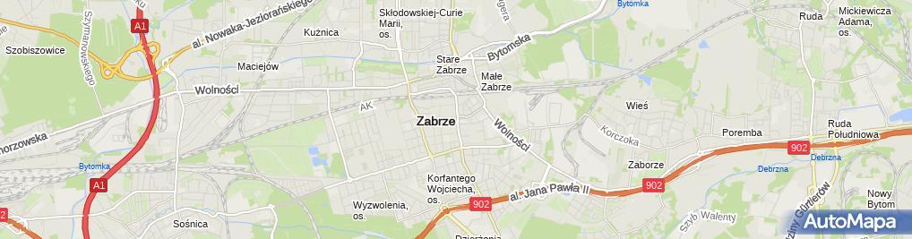 Zdjęcie satelitarne Polskie Towarzystwo Urologiczne Oddział Śląski