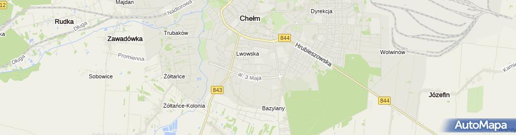 Zdjęcie satelitarne Poradnia Psychologiczno Pedagogiczna nr 1 w Chełmie