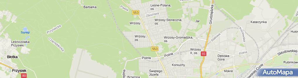 Zdjęcie satelitarne Porcelana Śmietańscy PHU