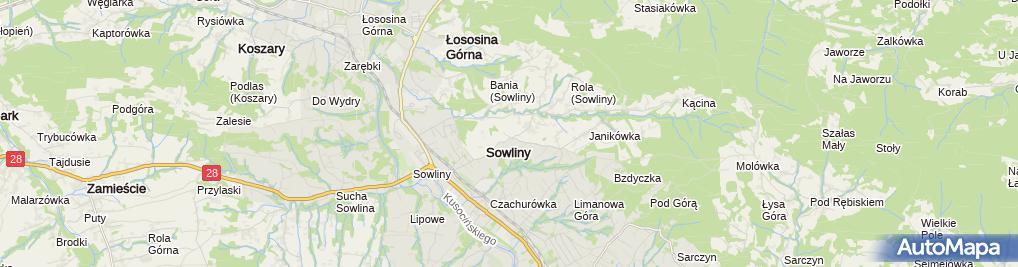 Zdjęcie satelitarne Porte