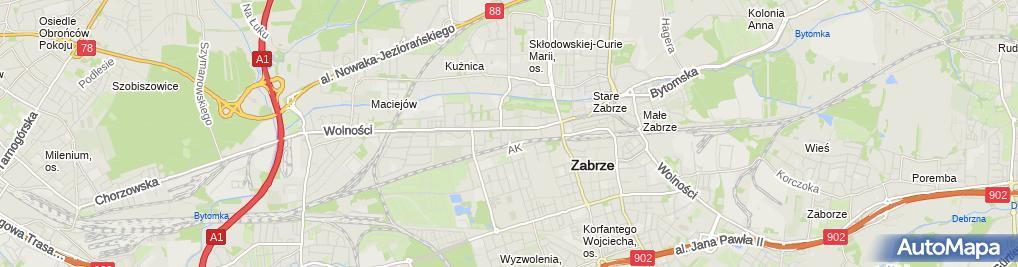 Zdjęcie satelitarne Pośrednictwo i Sprzedaż Art Przemysłowych Zbigniew Przyszlak Beata Przyszlak