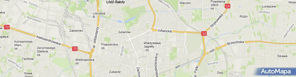 Zdjęcie satelitarne Pośrednictwo Ubezpieczeniowe Janusz Ronert