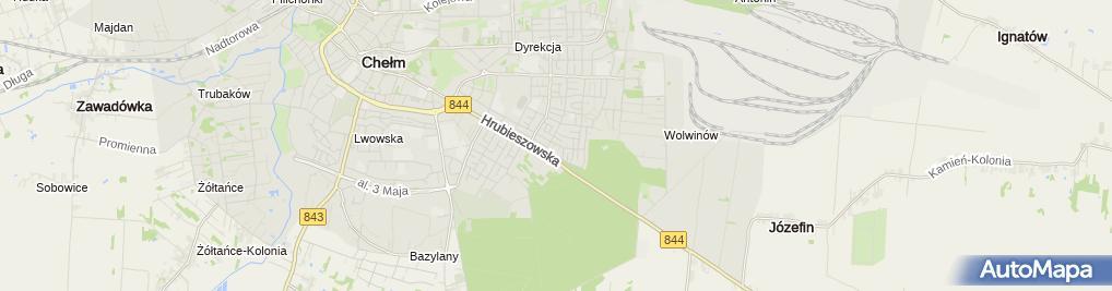 Zdjęcie satelitarne Pośrednictwo Ubezpieczeniowe Kusiak Agnieszka