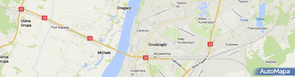 Zdjęcie satelitarne Pośrednictwo Ubezpieczeniowo - Handlowe Kabo Aldona Cudziło