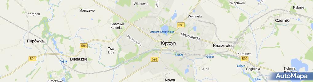 Zdjęcie satelitarne Powiat Kętrzyński